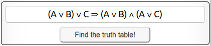 Find the truth table!